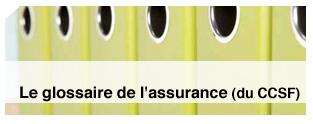 Glossaire de l'assurance établi par le CCSF